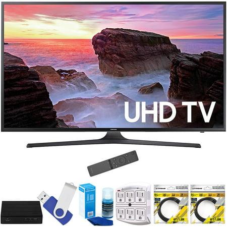 Samsung Un50mu6300fxza 50   4K Ultra Hd Smart Led Tv  2017 Model  Plus Terk Cut The Cord Hd Digital Tv Tuner And Recorder 16Gb Hook Up Bundle