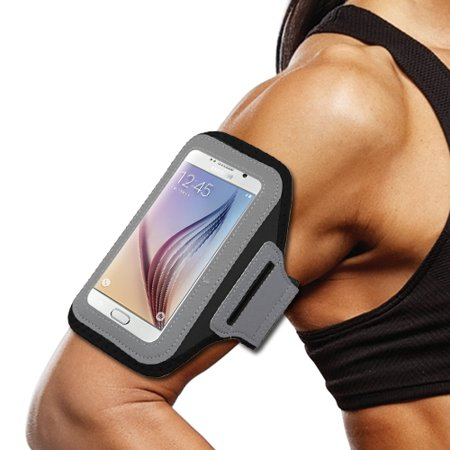 World Acc  Premium Neoprene Sports Workout Armband For Zte Tempo X   Zte Blade Vantage   Zte Avid 4  Premium Armband Black