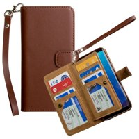 CellularOutfitter Samsung Galaxy S8 Limited Edition Multi-Card Wallet Case - With Wristlet - Redwood Bark