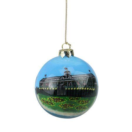 "Roman 3.25"" San Francisco Golden Gate Bridge and Lighthouse Ball Shaped Christmas Ornament - Blue/Green"