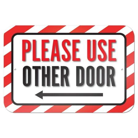 Please Use Other Door Left Arrow 9