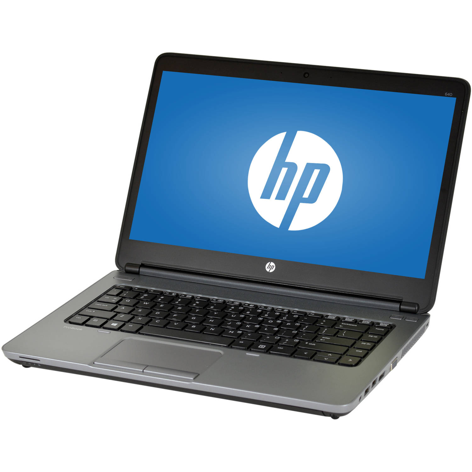 "Refurbished HP ProBook 640 G1 14"" Laptop, Windows 10 Pro, Intel Core i5-4300M Processor, 8GB RAM, 240GB Solid State Drive"