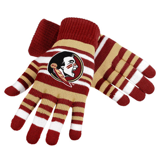 Florida State Seminoles Official NCAA One Size Stretch Knit Gloves by Forever Collectibles