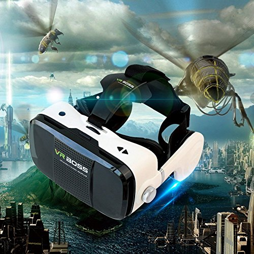 "3D Virtual Reality Headset, 3D VR Glasses Support Call Answer for Best Mobile Phone 3D Movies VR Games 4.7-6.0"" iPhone 6s/6 plus/6 Samsung Etc"
