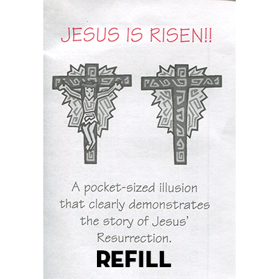 Top Hat Container (Jesus is Risen refill box by Top Hat Magic - Trick )