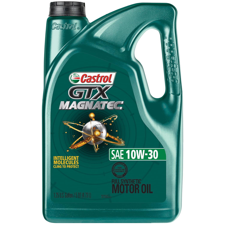 Castrol GTX MAGNATEC 10W-30 Full Synthetic Motor Oil, 5 QT