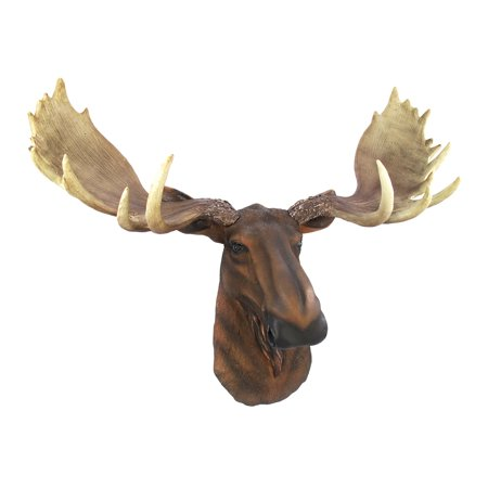 North American Moose Head Bust Wall Hanging ()