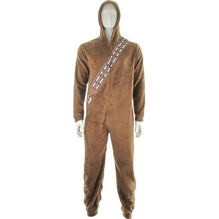 Star Wars Chewbacca Hooded Union Suit - Morphsuit Brown