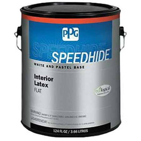 PPG 12-110XI-05 5 gal Speedhide Pro EV Interior Latex Paint - Flat White & Pastel Base Gloss Pastel Base Paint