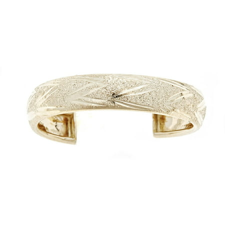 - 10kt Solid Yellow Gold Toe Ring In a Diamond-Cut Design