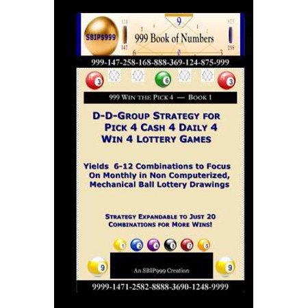 D D Group Strategy For Pick 4 Cash 4 Daily 4 Win 4 Lottery Games  Yields 6 12 Combinations To Focus On Monthly In Non Computerized  Mechanical Ball Lo