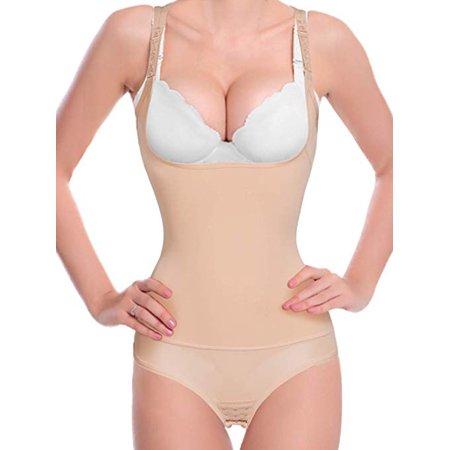 34b5512dba Lelinta - LELINTA Waist Trainer Body Shaper Bodysuit Women Corset Cincher  Shapewear Open Bra Weight Loss - Walmart.com