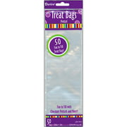3'' x 10'' Clear Treat Bags, 50-Pack