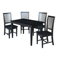 32x48 Dining Table with Four Chairs - Black