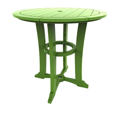 Round Counter Table by Malibu Outdoor - Laguna, Lime - 36''