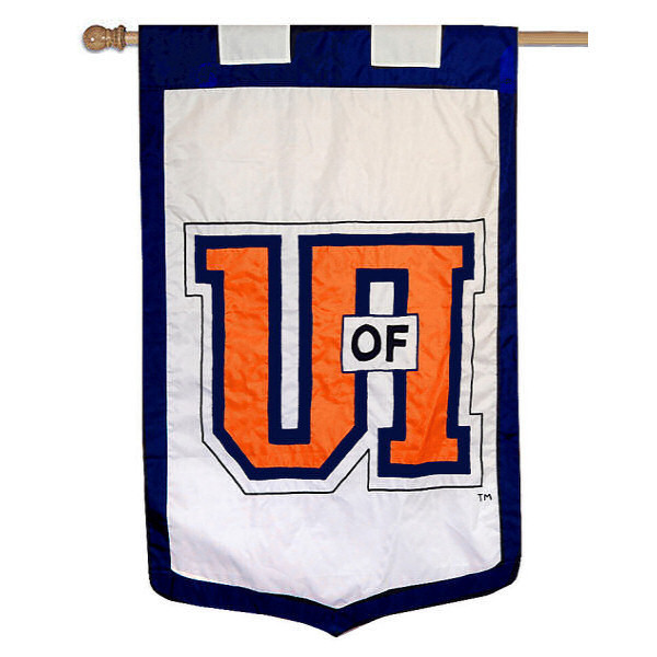 "Illinois Fighting Illini 35"" x 52"" NCAA House Flag"