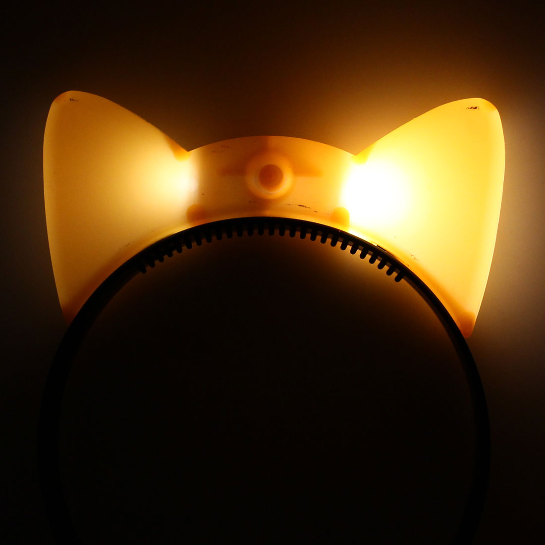 Cosplay Flash  Cat Ear Light Blinking Hair Band Hairband Headband Orange - image 2 de 3