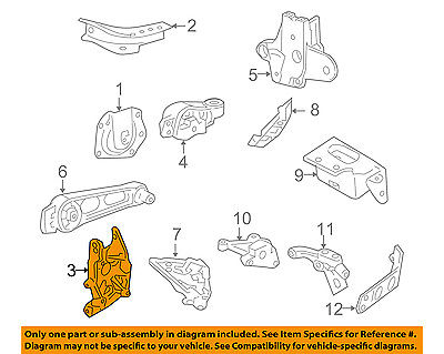 chrysler oem 03 08 pt cruiser engine motor transmission front bracket 4668687ac 2008 Lincoln MKX Engine Diagram