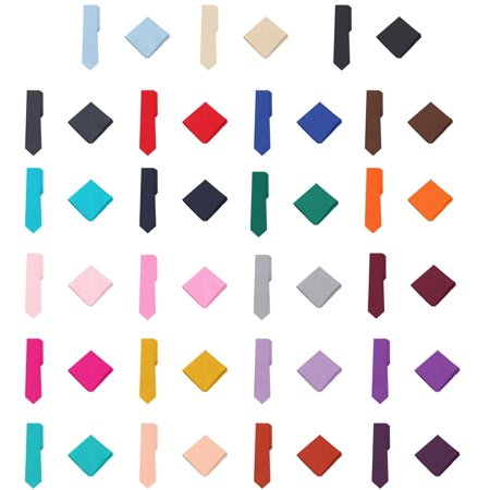 Jacob Alexander Polka Dot Print Men's Extra Long Tie Pocket Square Set - Burgundy Wine
