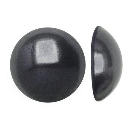 Crystal, #2080 Flatback Hotfix Cabochon Faux Pearls ss10, 50 Pieces, Dark Grey