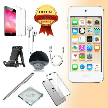 - Apple Ipod touch 6th generation 128GB Gold - Bluetooth Speaker - Case - Screen Protector - Stand - Stylus Pen - Cloth