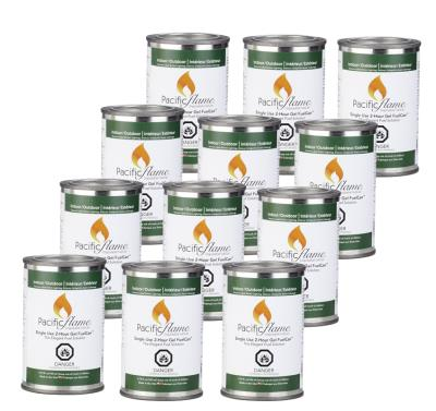 12 Single Use Cans of  Fire Pot Fuel Gel by Pacific Decor...
