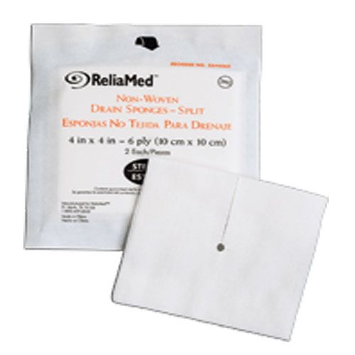 ReliaMed T-Drain Sponge ''4 X 4 , 6 ply, Sterile'' 10 Pack