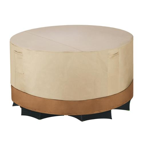 Villacera High Quality Patio Table & Chair Cover, Round, Beige & Brown, Medium