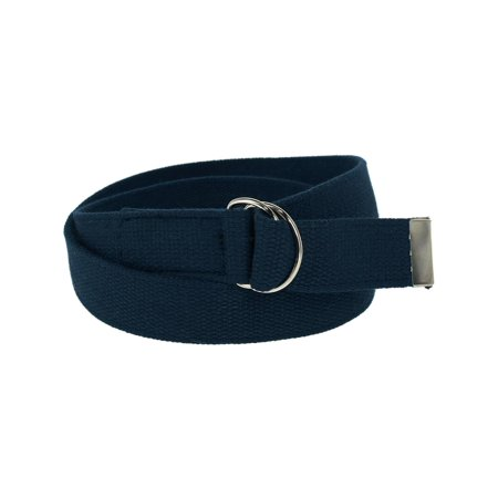 Cotton Web Belt with D Ring -