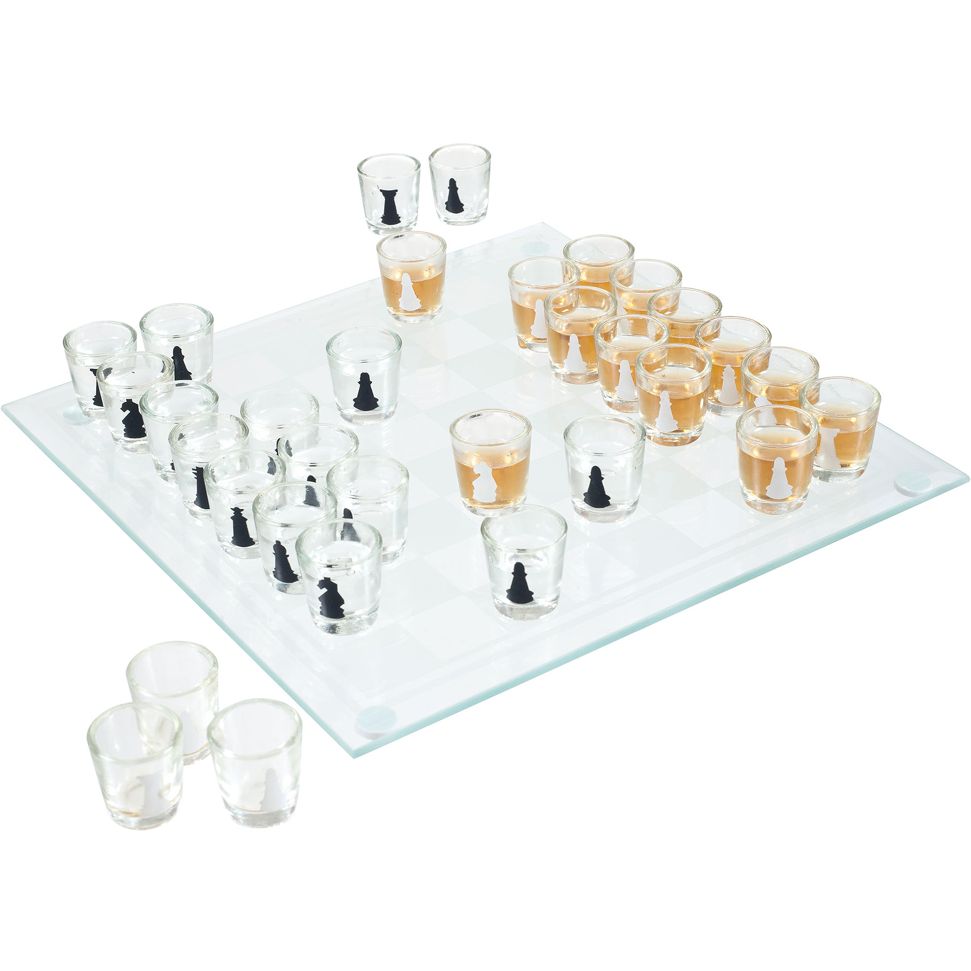 32-Piece Shot Glass Drinking Game Chess Set by Trademark Global LLC
