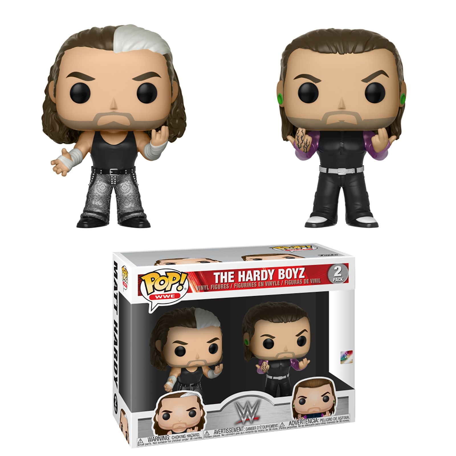 Hardy Boyz (Matt Hardy & Jeff Hardy) - WWE Pop Vinyl 2-Pack Toy Wrestling Action Figures