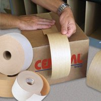 T906235 Kraft 72mm Inch x 375 Ft Central 235 5.8 Mil Reinforced Tape Made In USA CASE OF 8