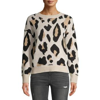 Dreamers by Debut Women's Leopard Print Sweater