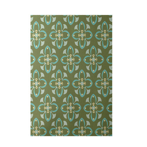 E By Design Green Indoor/Outdoor Area Rug