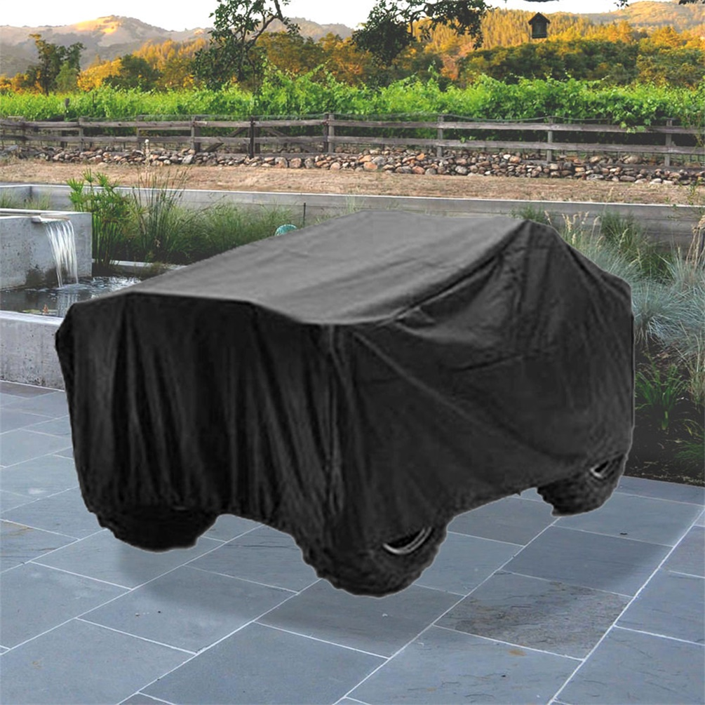 Universal Waterproof 190T polyester ATV Cover Dust Dirt Scratch Rain Water Proof XL Size Protect your vehicle from dirt, paint scratch or UV rays