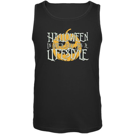 Halloween Lifestyle Black Adult Tank Top - Open Your Life Halloween