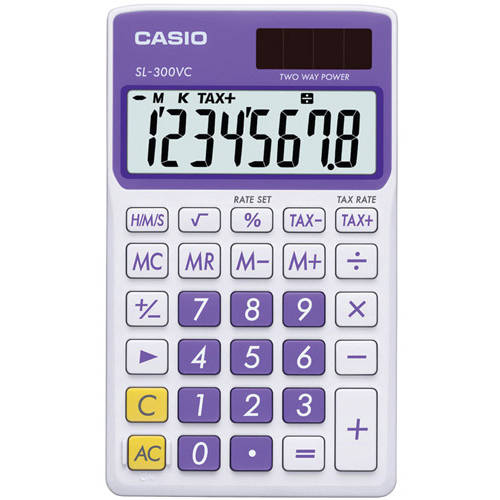 Casio SL300VCPLSIH 8-Digit Calculator