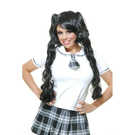 Womens Black Curly Halloween Wig - Halloween Makeup Tutorial For Black Women