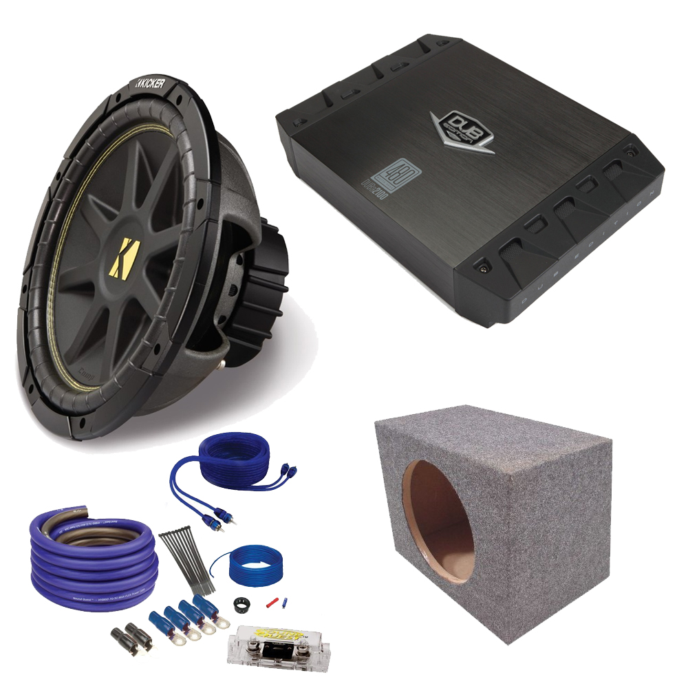 Astonishing Kicker 10 Comp Subwoofer Jensen Duba2100 200 Watt Amp Wire Kit Wiring Cloud Pimpapsuggs Outletorg