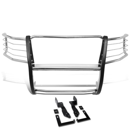 For 2011 to 2014 Chevy Silverado 2500HD / 3500HD Stainless Steel Front Bumper Headlight / Grille Brush Guard 12