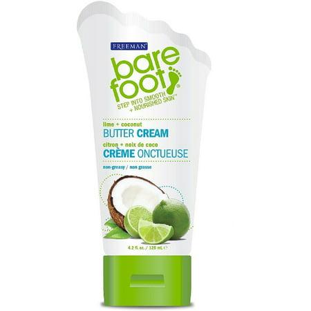 Freeman Bare Foot Lime + Noix de coco Crème au beurre, 4,2 onces liquides