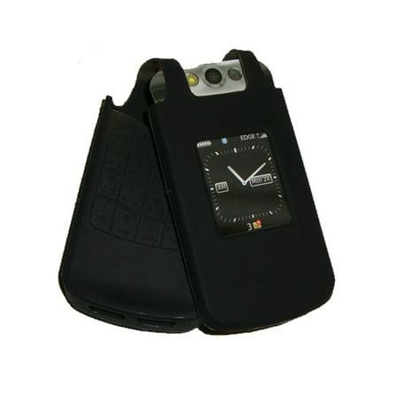 8230 Protector Case - OEM BlackBerry Silicone Skin Case Pearl Flip 8220 8230 (Black)
