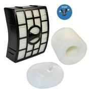 HQRP Filter Kit for Shark Rotator NV750 series NV750W NV751 NV752 NV750REF Powered Lift-Away Upright Vacuum Cleaners (HEPA + Foam&Felt Filters) + HQRP Coaster