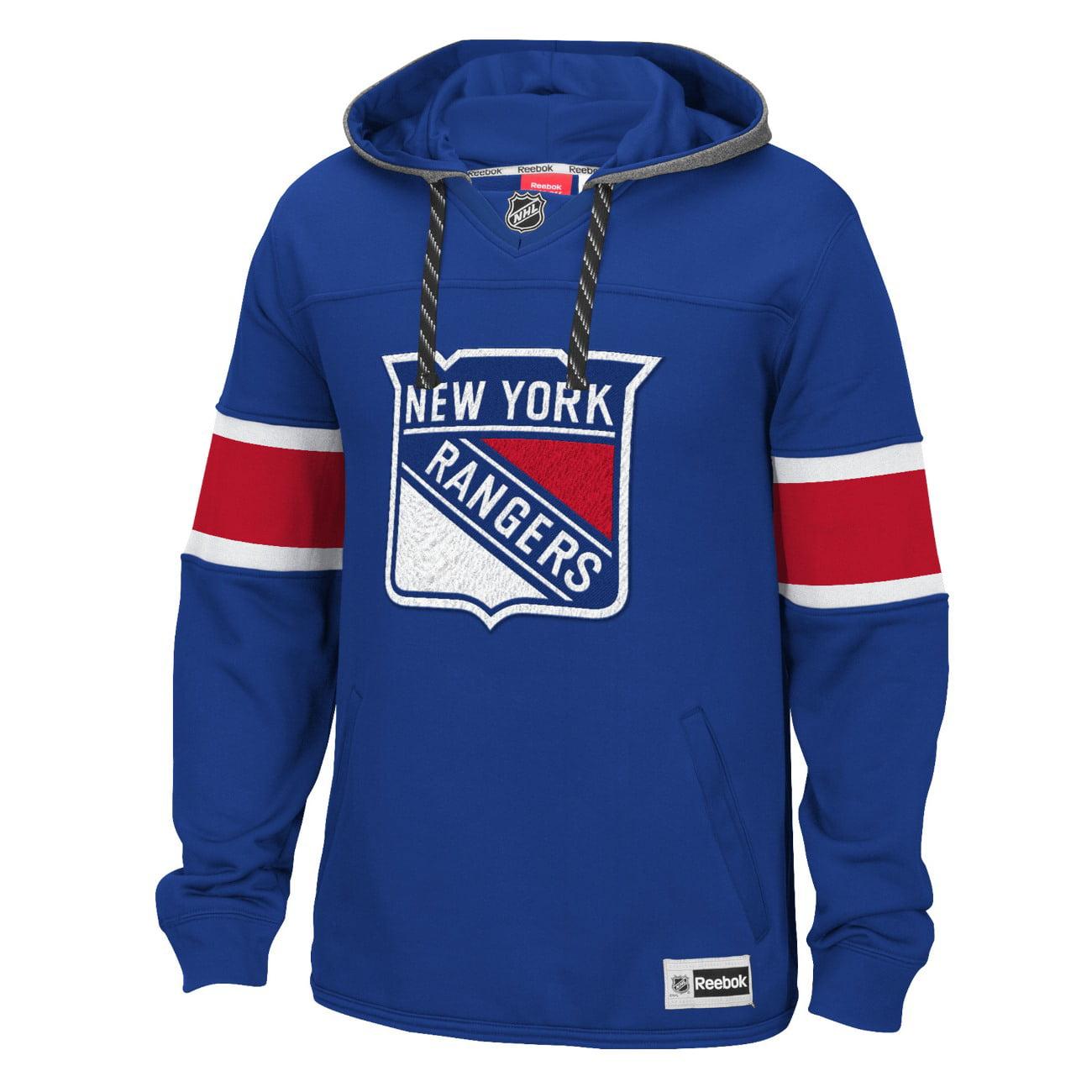 "New York Rangers Reebok NHL Men's ""Jersey"" Pullover Hooded Sweatshirt by REEBOK/SPORTS LICENSED DIVISION"