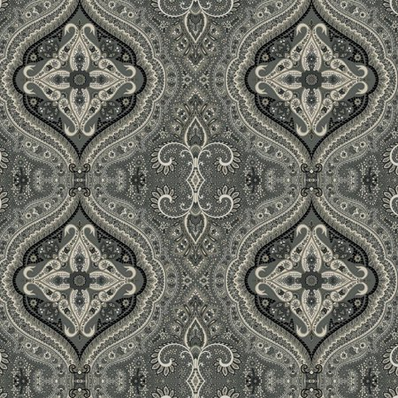 Waverly Inspirations PAISLEY BLACK 100% Cotton duck fabric, Quilting fabric, Home Decor ,54'', - Fabric Decor