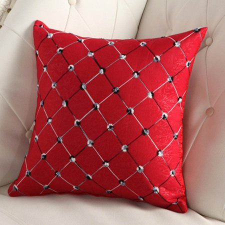 Cluxwal Living Room Sofa Pillowcase Vintage Diamond Pattern Sofa Cushions Pillowcase Home Sofa Car Decoration Ornament