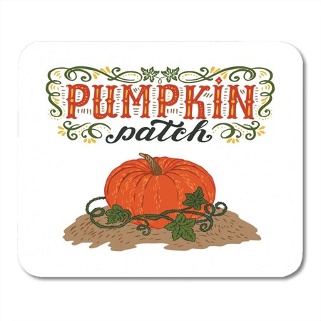 LADDKE Text Pumpkin Patch Halloween Hand Lettering and Sign Vintage Farm Fresh Advertise Mousepad Mouse Pad Mouse Mat 9x10 inch - Advertising Halloween