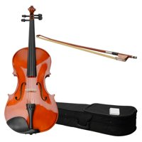 Zimtown 15-inch Solid Wood Acoustic Viola with Case, Bow, Rosin, Bridge and Strings for Student