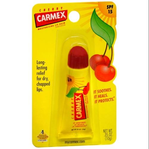 Carmex Soothing Everyday Lip Balm, Cherry 0.35 oz (Pack of 2)
