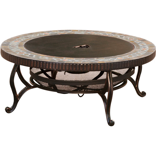 "Pleasant Hearth 34"" Elizabeth Natural Slate Fire Pit"